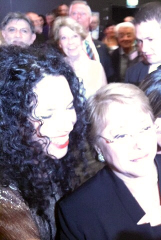 With Chiles president Michelle Bachelet