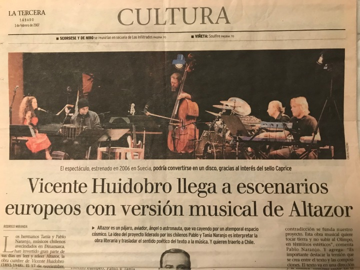 Orange Tech & Latin Ensemble article at La Tercera (Chilean newwpaper)